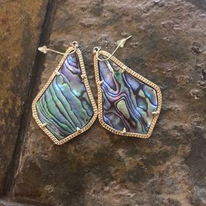 Kendra Scott abalone Alexandra earrings